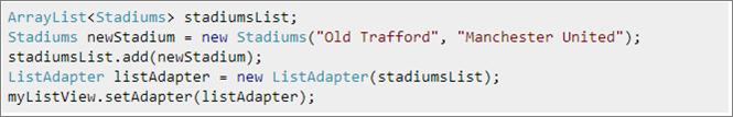 4 list adapter
