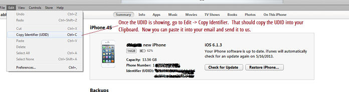 UDID Mobile testing