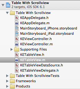 file structure xcode