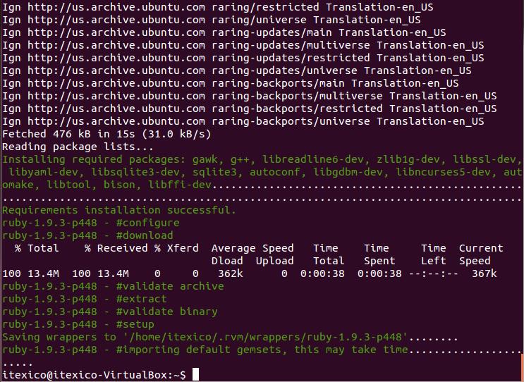rvm install output image