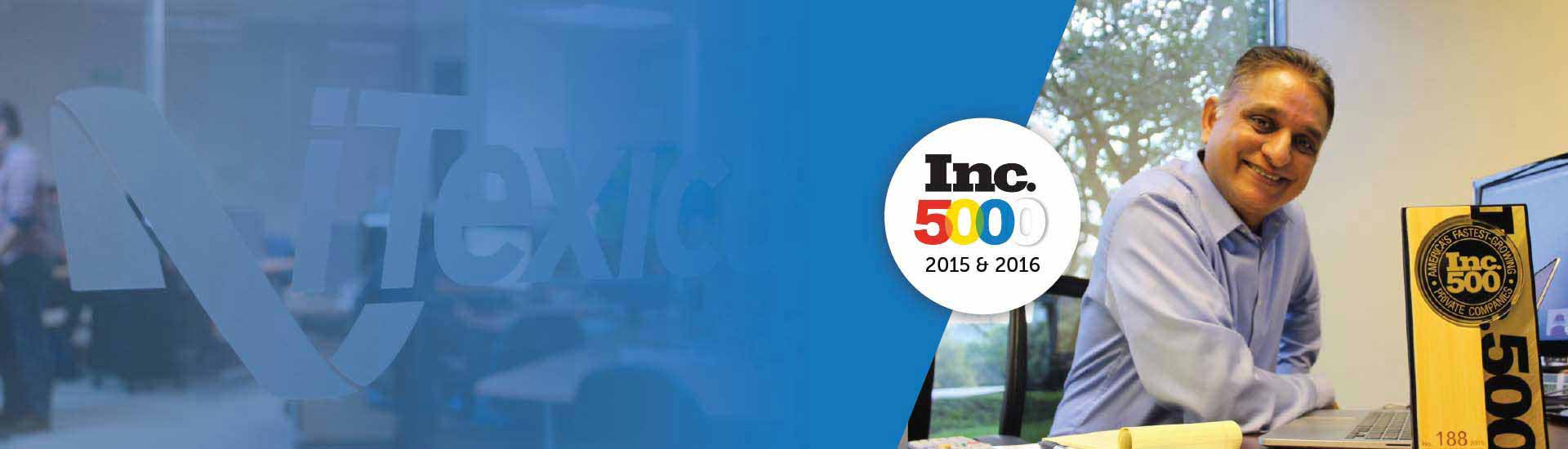 Inc 500 honoree recognition - itexico